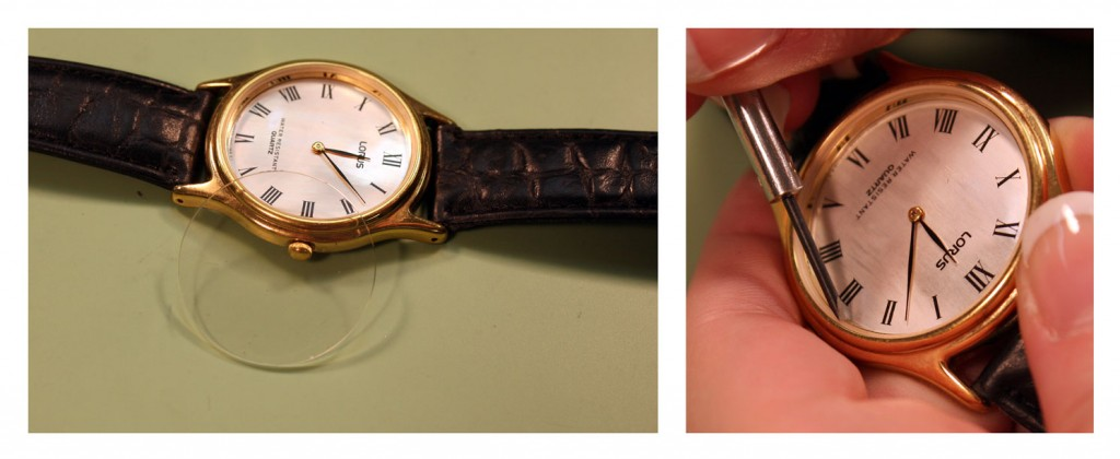 Attach a Watch Crystal with Two Part Epoxy_step1