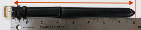 measure leather-length-of-watch-band-INCHES-long