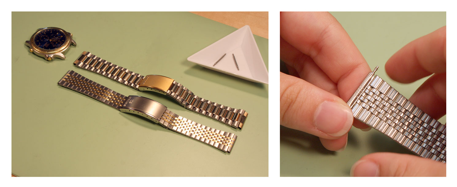 how to change watch band links