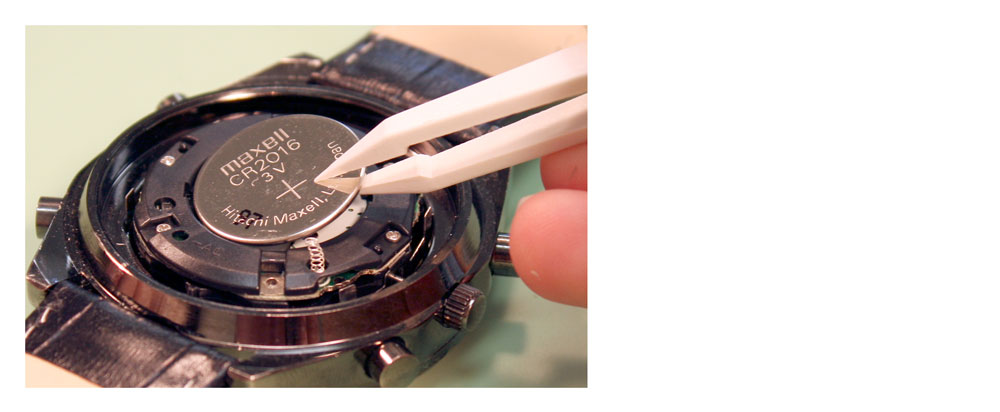 How to replace two stacked watch batteries watch band for Waschbatterie