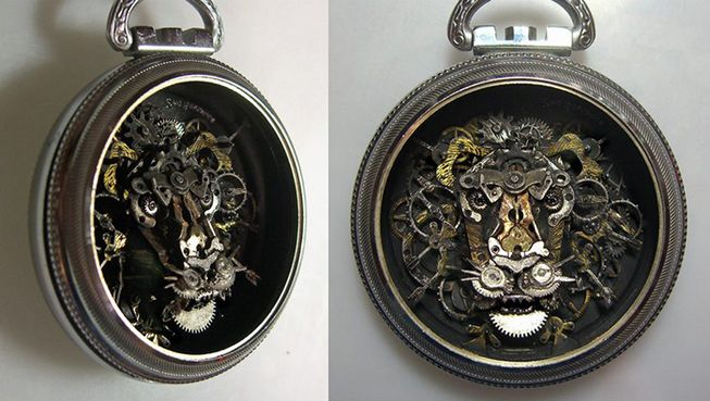 Lion pocketwatch art