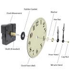 Quartz Clock Movement Parts and Assembly Diagram