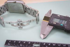 Watch clasp size