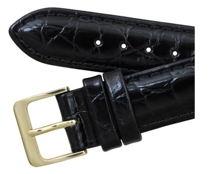 Leather watch band buckle clasp