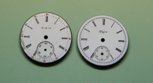 Dial refinishing before and after