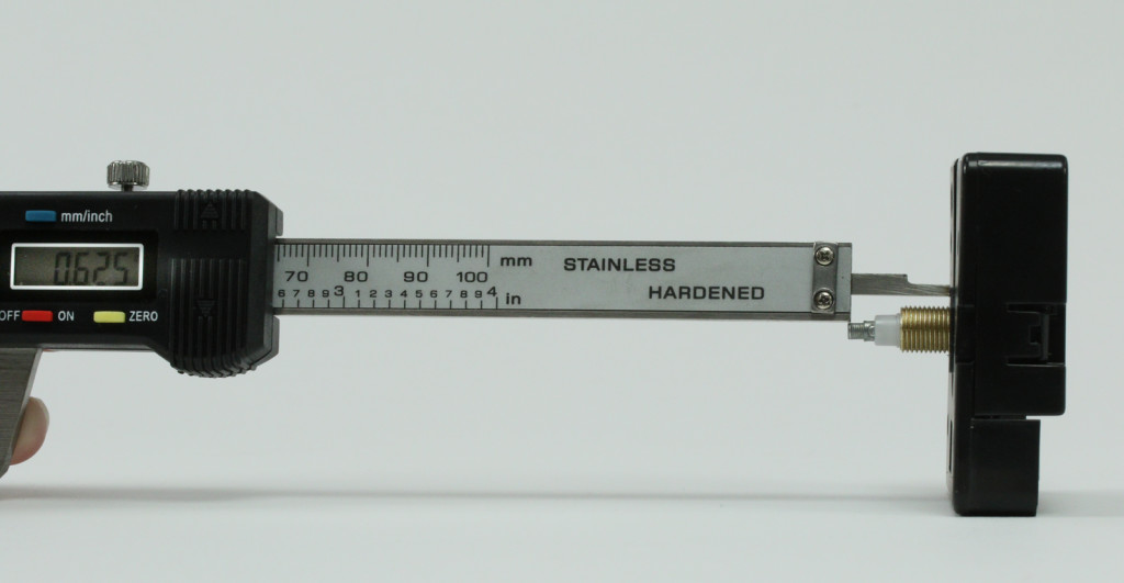 Clock movement shaft measurement