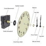 Quartz Clock Movement Parts and Assembly Diagram