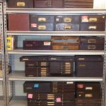 Vintage Watchmakers Cabinets Full Of Watch Repair Parts