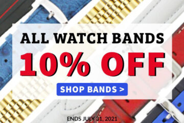 Watch Bands on Sale Sitewide Save on Leather, Metal Bracelets, Nylon, Rubber, Silicone, Smart Watch Bands, and Watch Bands for Name Brand Watches for both Ladies and Men!